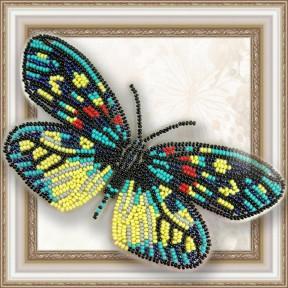 Набор для вышивки бисером бабочки на прозрачной основе Вдохновение Erasmia Pulehera BGP-007