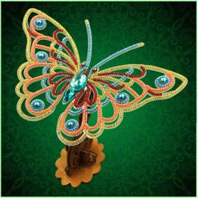 Набор для вышивки бисером бабочки на прозрачной основе Вдохновение 3d Ажурная бабочка BGP-081