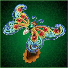 Набор для вышивки бисером бабочки на прозрачной основе Вдохновение 3d Ажурная бабочка BGP-084