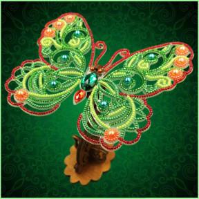 Набор для вышивки бисером бабочки на прозрачной основе Вдохновение 3d Ажурная бабочка BGP-085