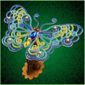 Набор для вышивки бисером бабочки на прозрачной основе Вдохновение 3d Ажурная бабочка BGP-086