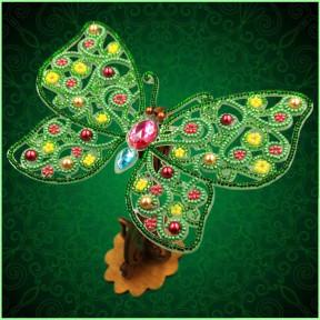 Набор для вышивки бисером бабочки на прозрачной основе Вдохновение 3d Ажурная бабочка BGP-087