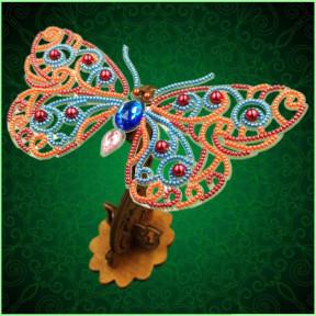 Набор для вышивки бисером бабочки на прозрачной основе Вдохновение 3d Ажурная бабочка BGP-088