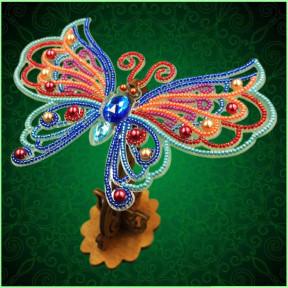 Набор для вышивки бисером бабочки на прозрачной основе Вдохновение 3d Ажурная бабочка BGP-089