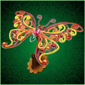 Набор для вышивки бисером бабочки на прозрачной основе Вдохновение 3d Ажурная бабочка BGP-090