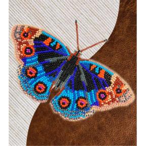 Набор для вышивки бисером бабочки с водорастворимым флизелином Вдохновение Анютины Глазки NBFL-012