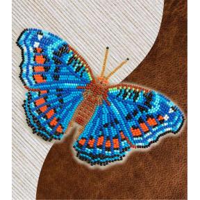 Набор для вышивки бисером бабочки с водорастворимым флизелином Вдохновение Прецис Оавия NBFL-019