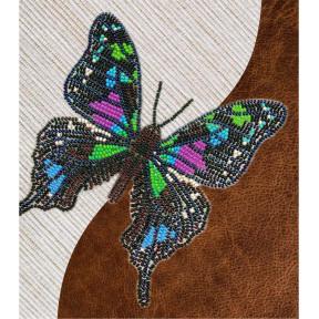 Набор для вышивки бисером бабочки с водорастворимым флизелином Вдохновение Графия Веска NBFL-021