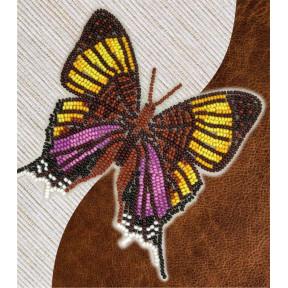 Набор для вышивки бисером бабочки с водорастворимым флизелином Вдохновение Марпезия Марселла NBFL-027