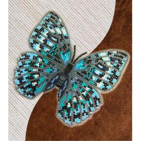 Набор для вышивки бисером бабочки с водорастворимым флизелином Вдохновение Стихофтальма годфри NBFL-034