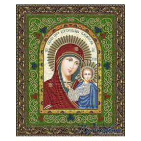 Схема на ткани для вышивания бисером Вдохновение Казанская Образ Пресвятой Богородицы БГИ4001