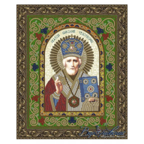 Схема на ткани для вышивания бисером Вдохновение Николай Чудотворец БГИ4003