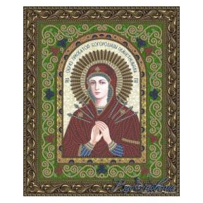 Схема на ткани для вышивания бисером Вдохновение Семистрельная Образ Пресвятой Богородицы БГИ4004