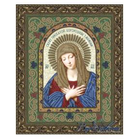 Схема на ткани для вышивания бисером Вдохновение Образ Пресвятой Богородицы Умиление БГИ4007