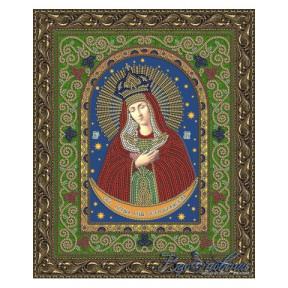 Схема на ткани для вышивания бисером Вдохновение Остробрамская Образ Пресвятой Богородицы БГИ4008
