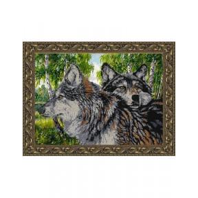 Схема на ткани для вышивания бисером Вдохновение Волки. Вдохновение БГК3001