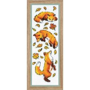 """Набор для вышивки крестом Риолис """"Лисы в листве"""" 1879"""