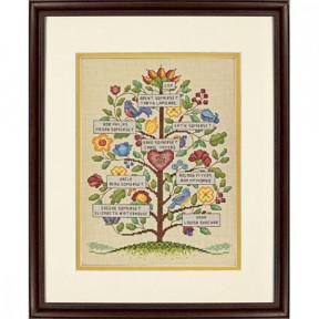 """Набор для вышивки крестом Dimensions Vintage Family Tree """"Семейное древо (винтажный стиль)"""" 70-73817"""