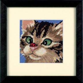 Набор для вышивания гобеленом Dimensions Cross-Eyed Kitty 07206