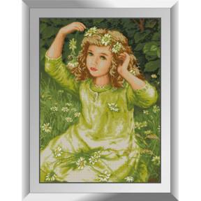 Набор алмазной живописи Dream Art Веночек из ромашек 31475D