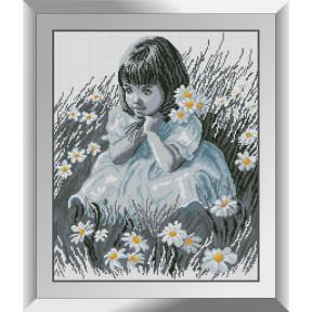 Набор алмазной живописи Dream Art Девочка в ромашках 31495D