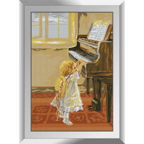 Набор алмазной живописи Dream Art Маленькая пианистка 31498D