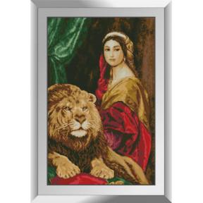Набор алмазной живописи Dream Art Девушка и лев 31525D