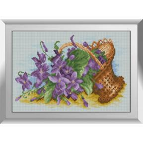 Набор алмазной живописи Dream Art Фиалки в корзинке 31541D