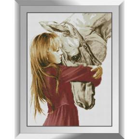 Набор алмазной живописи Dream Art Девочка и лошадь 31547D