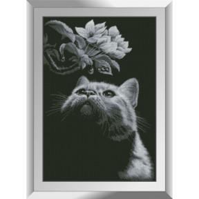 Набор алмазной живописи Dream Art Кот с магнолией 31551D