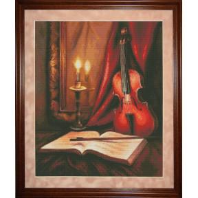 Набор для вышивки крестом Юнона 0702 Соло для скрипки
