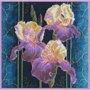 Набор для вышивания Картины Бисером Ирисы. Винтаж Р-422