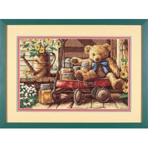 """Набор для вышивания крестом Dimensions """"Мишка с медом"""" 13693"""
