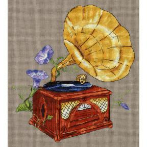 """Набор для вышивки крестом Panna """"Мелодия сада. Граммофон"""" РЕ-7162"""