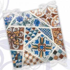 Набор для вышивания крестом Риолис  Подушка Мозаика 1871