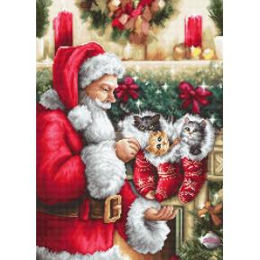 "Набор для вышивки гобелена Luca-S  ""Дед Мороз"" G602"