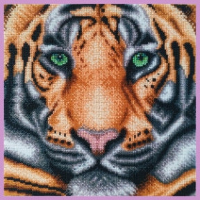 Набор для вышивания бисером Картины Бисером Тигр  Р-412