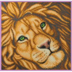 Набор для вышивания бисером Картины Бисером Лев  Р-414