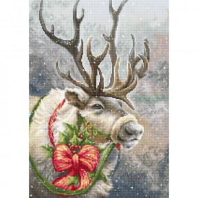 Набор для вышивки гобеленом Luca-S Рождественский олень G598