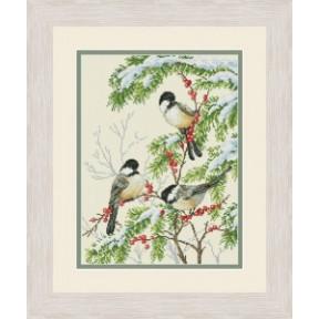 Набор для вышивания крестиком OLanTa Зимние птицы VN-153