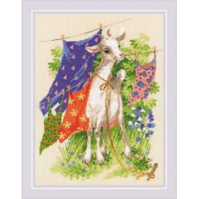 """Набор для вышивки крестом Риолис """"Озорная козочка"""" 1891"""