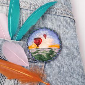 Набор для вышивки Panna Брошь. Воздушные шары ЖК-2185