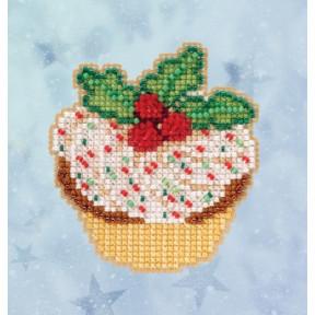 Набор для вышивания Mill Hill Holly Cupcake MH182033