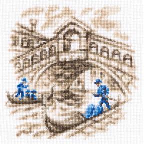 Набор для вышивки крестом RTO На улицах Венеции C327