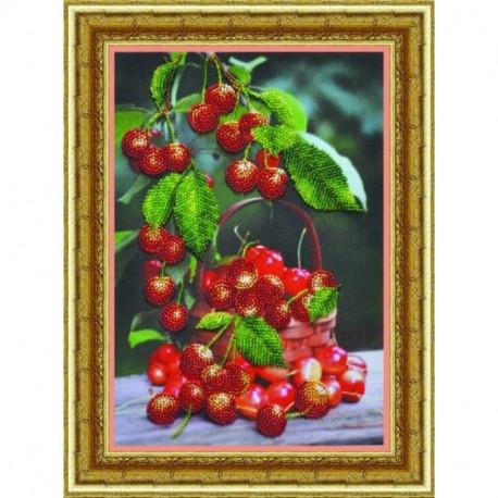 Набор для вышивания Картины Бисером Р-068 Черешня фото