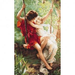 Набор для вышивки крестом Luca-S  Весна влюбленных B415