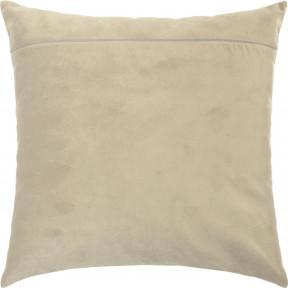 Обратная сторона наволочки для подушки Чарівниця Кофе с молоком (бархат) VB-303