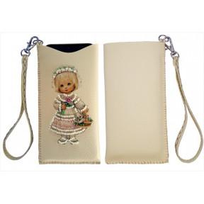 """Набор для вышивания бисером Butterfly Чехол для телефона """"Девочка"""" LB 062"""