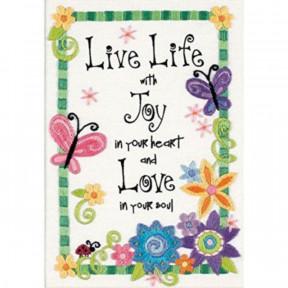 Набор для вышивания гладью Dimensions Жизнь/Live Life 06231