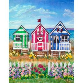 Набор для вышивания лентами Марічка Пляжные домики НКШ-4018